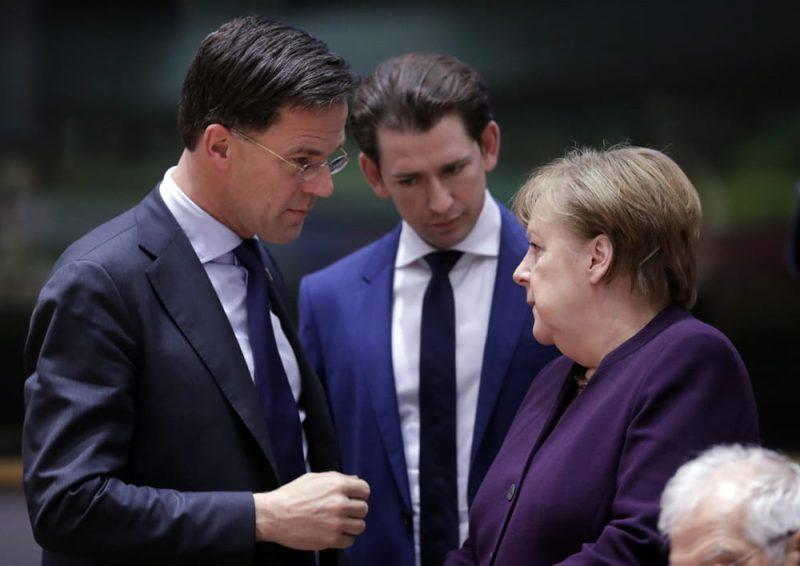 Rutte, Kurz e Merkel